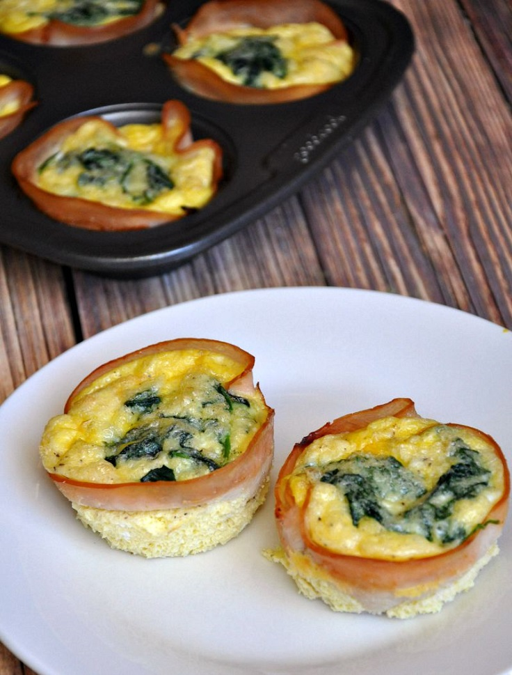 Turkey-Egg-Spinach-Cheese-Mini-Quiche