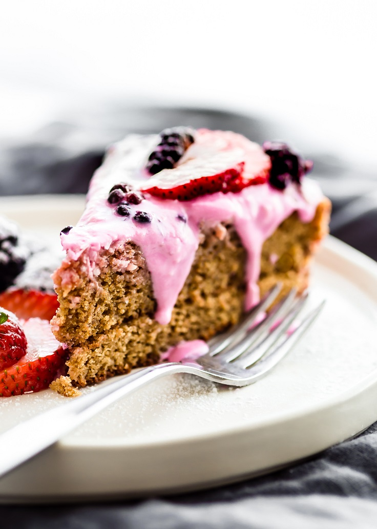 Berry-Yogurt-Frosted-Flourless-Cake