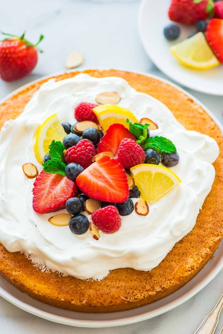 Lemon-Almond-Cake-with-Fresh-Berries