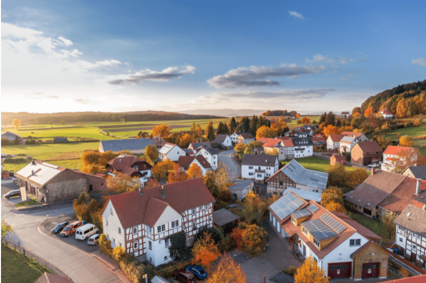 houses-aerial-view